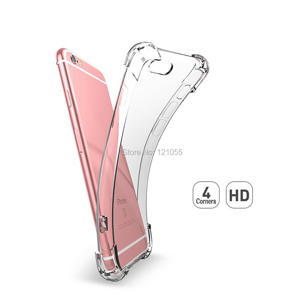 Étui pour téléphone Transparent Transparent étui pour iphone de protection en silicone étui mobile en vrac 100 pcs/lot antichoc fundas coque souple mince