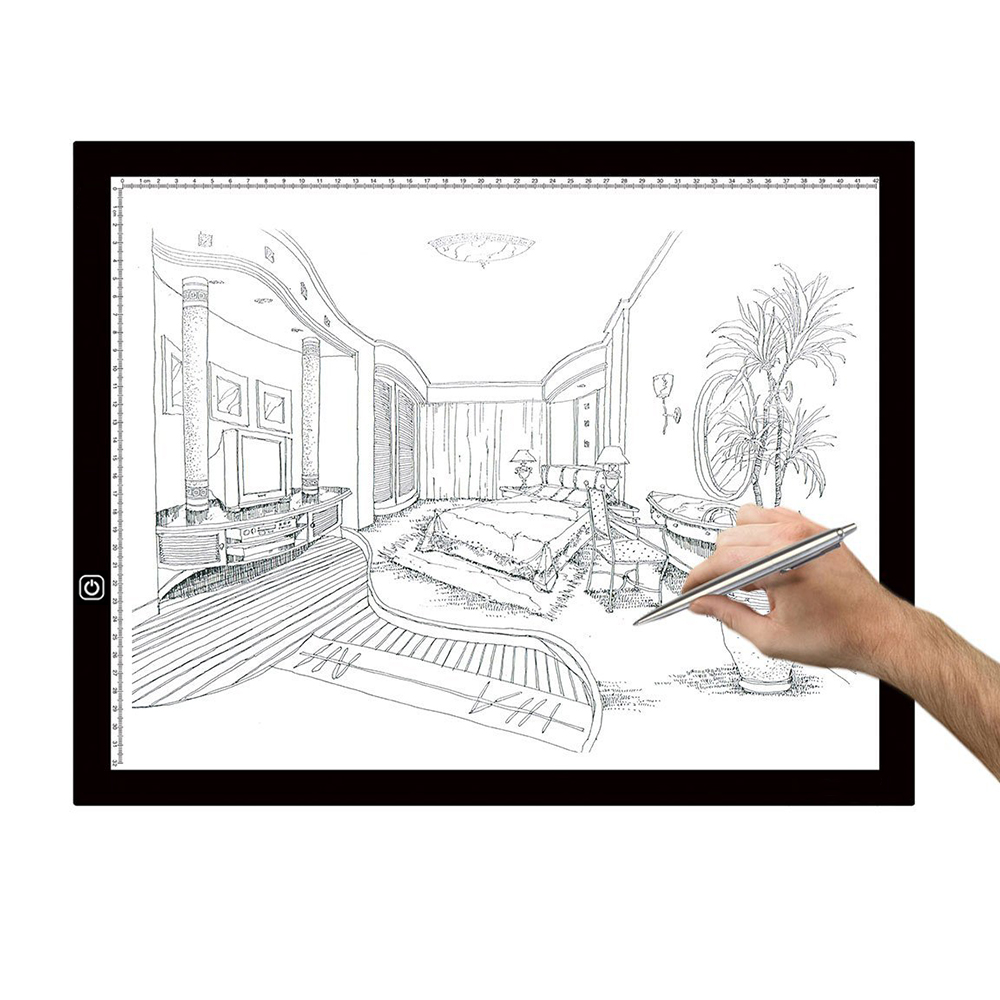 A3 Light Box LED Artcraft Tracing Light Pad Ultra-thin Dimmable Brightness Tatoo Pad Sketching Designing Stencilling X-ray Viewi