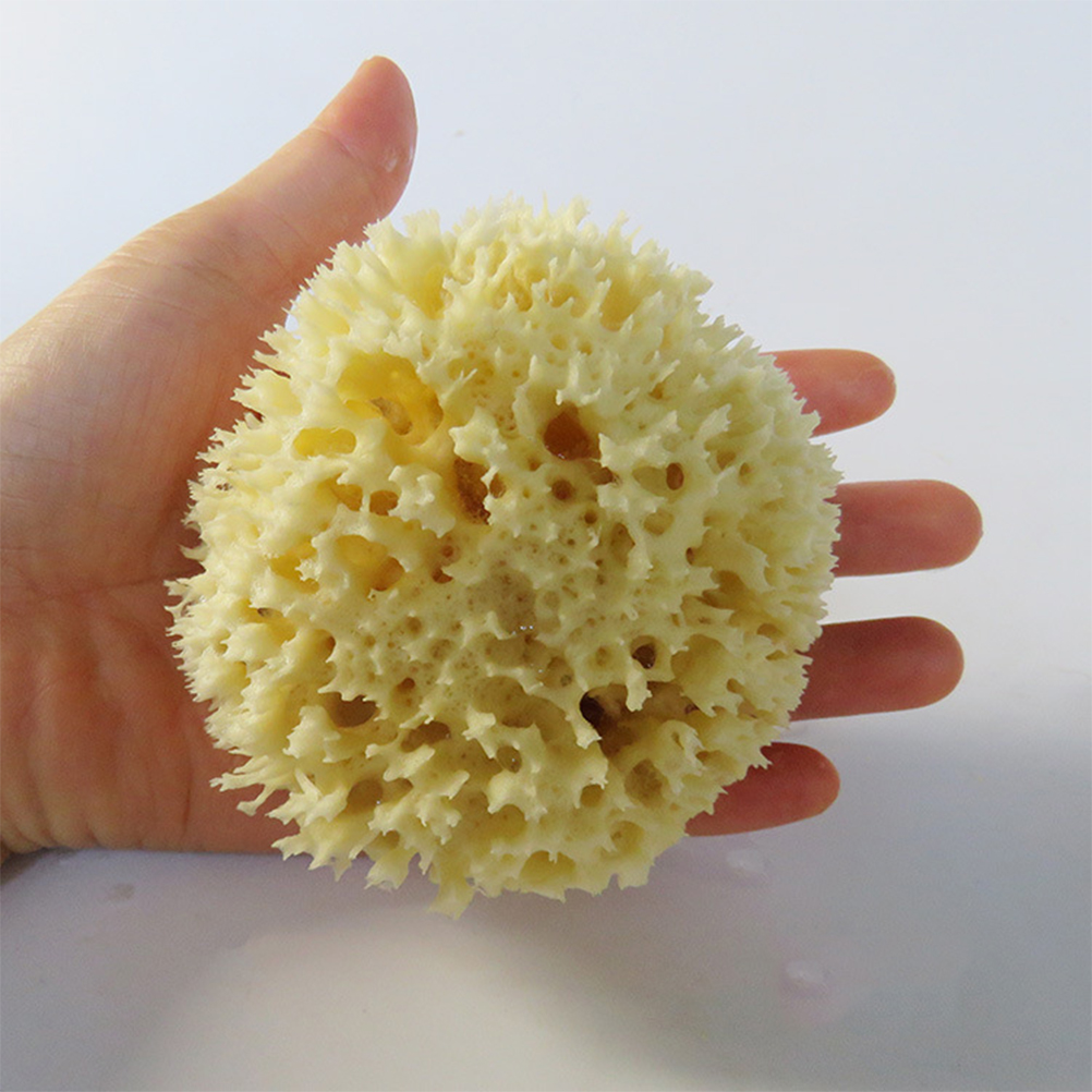 1pc Sponge Ball Comfortable Soft Honeycomb Natural Seaweed Washing Supplies Cleaning Ball For Body Face Skin Bath