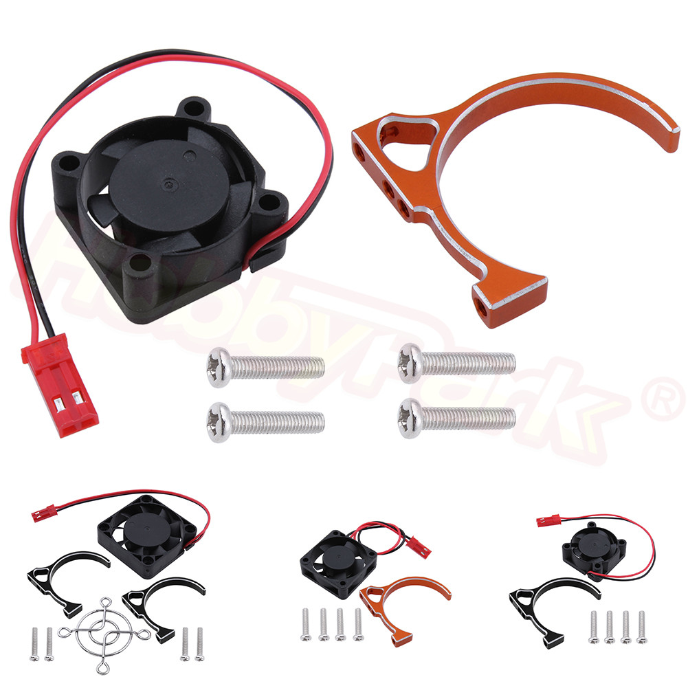 3650 540 550 Motor Heatsink with Cooling Fan DC 5V Electric Engine Parts for 1/10 1/8 RC Model Cars Truck Buggy Hobby