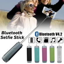 New 5 In 1 Multi-Functional Mini Selfie Stick Bluetooth Wireless Speakers Flashlight Box Stereo Outdoor Portable For Phone