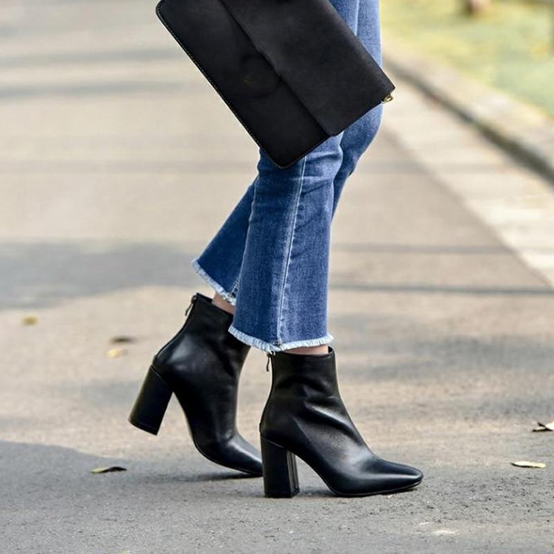 e2333da2e Para Zapatos Altas Black Red De brown Botas Mujer Invierno wine Cuero Nuevas  qyXBHyfFwR