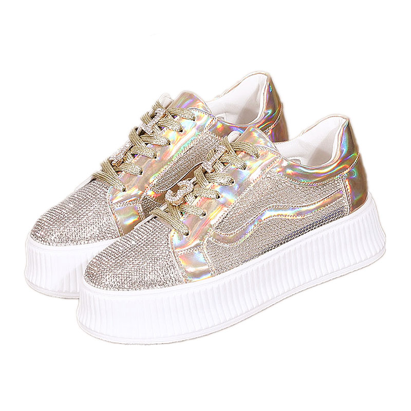 SWYIVY Sneakers For Women 2019 Crystal Mesh Breathable Summer Shoes For Woman Casual Golden Sneakers Breathable Wedge Flatform 4SWYIVY Sneakers For Women 2019 Crystal Mesh Breathable Summer Shoes For Woman Casual Golden Sneakers Breathable Wedge Flatform 4