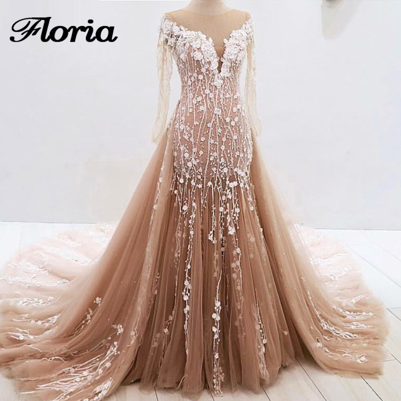 Aibye Dubai Evening Dresses Turkish 2019 Luxury Sheer Long Formal Prom  Dress Robe de soiree Galajurk d7f6fd6d7895