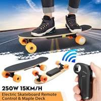 Электрический скейтборд четырехколесный Лонгборд скейтборд клен палуба беспроводной пульт дистанционного управления колёса для скейтбор
