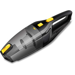 Handheld Vacuum Cordless, Portable Vacuum Cleaner Rechargeable, One-Click To Empty Dust, Lithium With Quick Charge Tech, Wet D