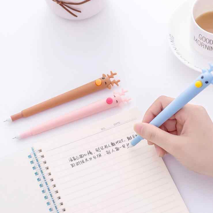 Ellen Brook 1 pièce coréen papeterie mignon effaçable Kawaii fauve stylo publicité créative école bureau fournitures Gel stylos cadeau