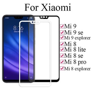 Image 2 - Protective Glass On Ksiomi Mi 9 se For Xiaomi 8 Lite Se Explorer Tempered Safety Glas Xiomi Mi9 Mi8 8lite Full Cover Sheet Case