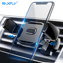 RAXFLY Mobile Phone Car Holder Stand For iPhone Samsung Huawei 360 Rotate Air Vent Mount Adjustable Stands