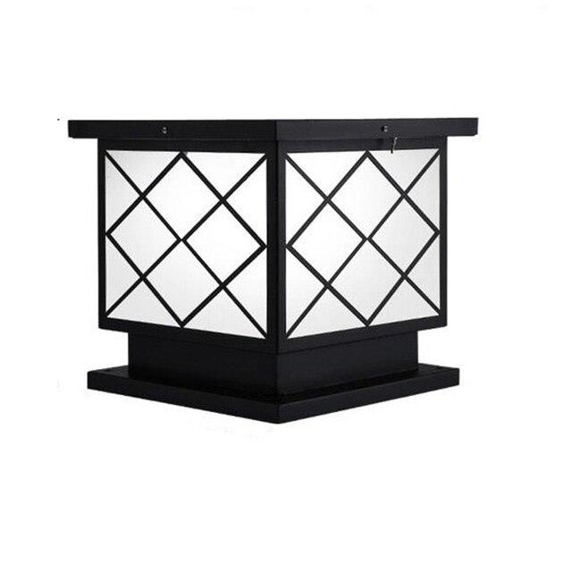 Iluminador Lamp Gate Led Terraza Y Jardin Decoracion Luminaire Exterieur Outdoor Lighting Solar Garden Landscape Light