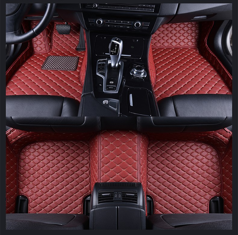 Car Leather Front Rear Floor Mats Set For BMW 3 Series F30