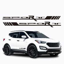1 Pair Car Styling Auto Side Body Vinyl Decals Racing Sports 55x5.2cm Stripe Stickers Universal