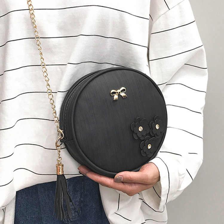 Kobiety okrągły pas torba na ramię błagać Tangan Korea torby torebka