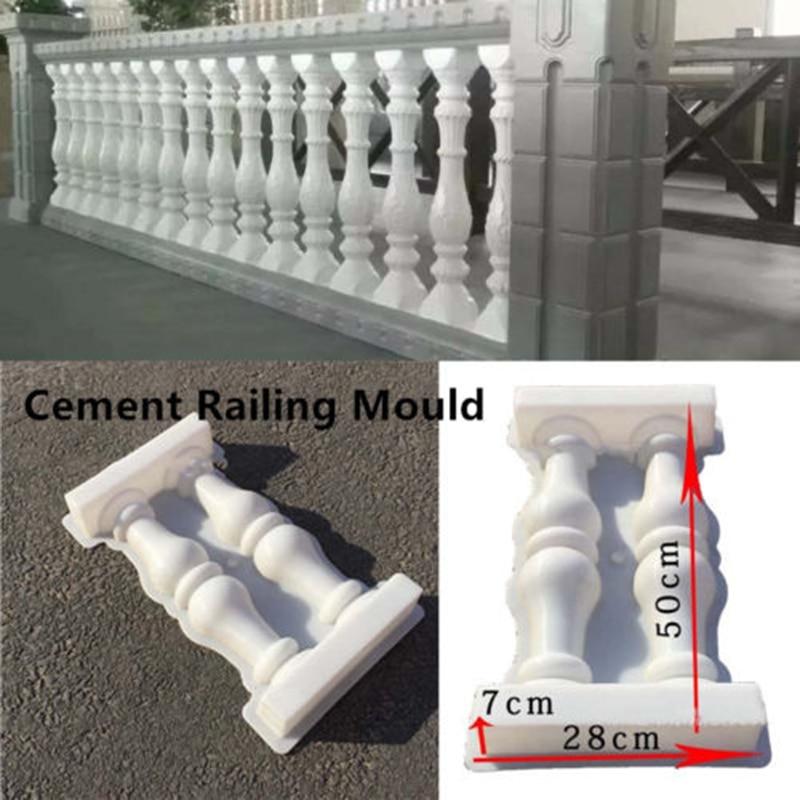 Roman Column Molds Balcony Garden Pool Fence Cement Railing Plaster Concrete NEW