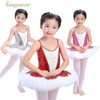 professional ballet tutu child kids girls sequin ballerina dress kids girls dance costumes ballerinas dancewear