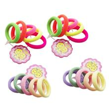 20pcs Toddlers Kids Baby Girls Hair Ties Colorful Seamless Elastic Hair  Ties Ponytail Holder Hair Bands 689395ffa76