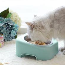 Безопасность и защита окружающей среды собаки миски для еды животных кошек собаки Открытый питьевой воды домашних животных собачья из нержавеющей стали кошка блюдо для еды