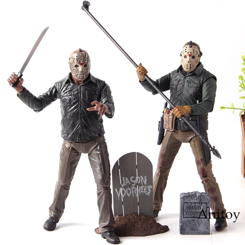 NECA Jason Friday the 13th Action Figures Jason Voorhees Horror Movie Dolls PVC Collection Model Toys guerre moderne lego