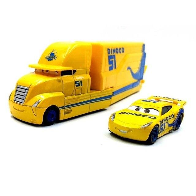 Disney Pixar Cars 2 3 Toy Lightning Mcqueen Jackson Storm Mack Uncletruck King 1:55 Diecast Metal Car Toy Children Birthday Gift