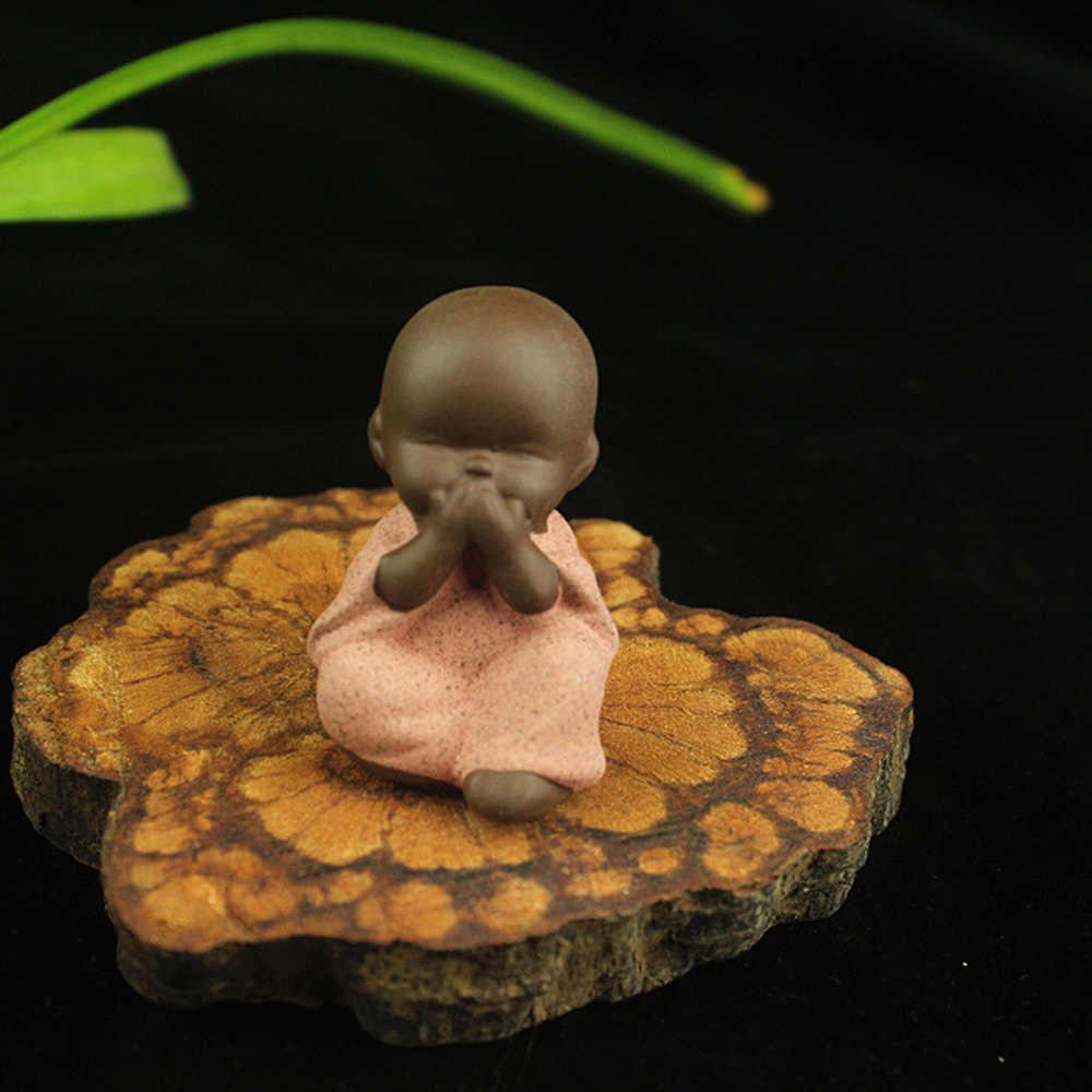 מיני בודהה פסל נזיר קטן צלמית המנדלה טאתאגאטה הודו יוגה המנדלה תה לחיות מחמד קרמיקה מלאכות קישוטים דקורטיביים באיכות