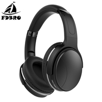 FDBRO HiFi Stereo Earphone Passive Noise Cancelling Wireless Bluetooth Headphones Foldable Headset with Mic Sport Music Earbuds