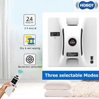 HOBOT Window Vacuum Cleaner Window Cleaning Robot High Suction Anti Falling Remote Control Wet Dry Wiping Washer Robot Sweeper|Vacuum Cleaners| |  -