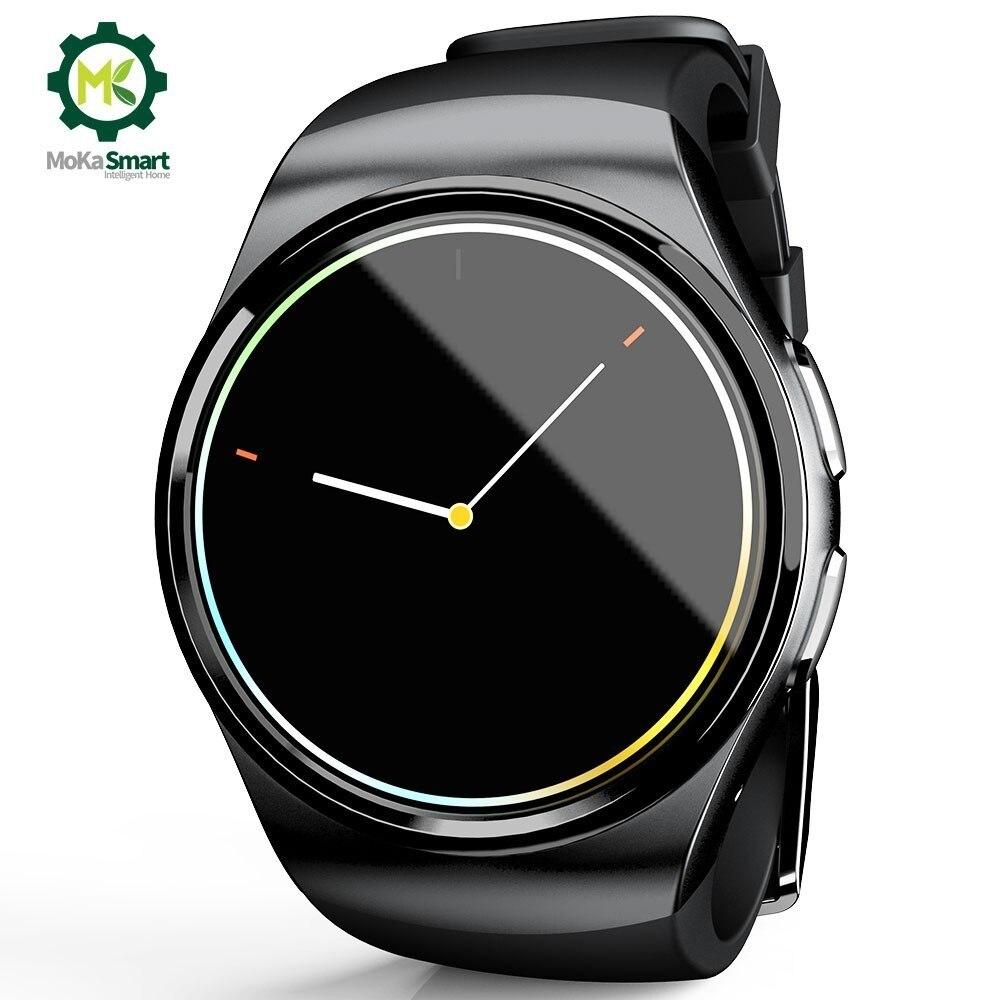 MOKA Smartwatch Android téléphone MTK2502 podomètre Support carte SIM horloge numérique montre intelligente hommes pour Ios
