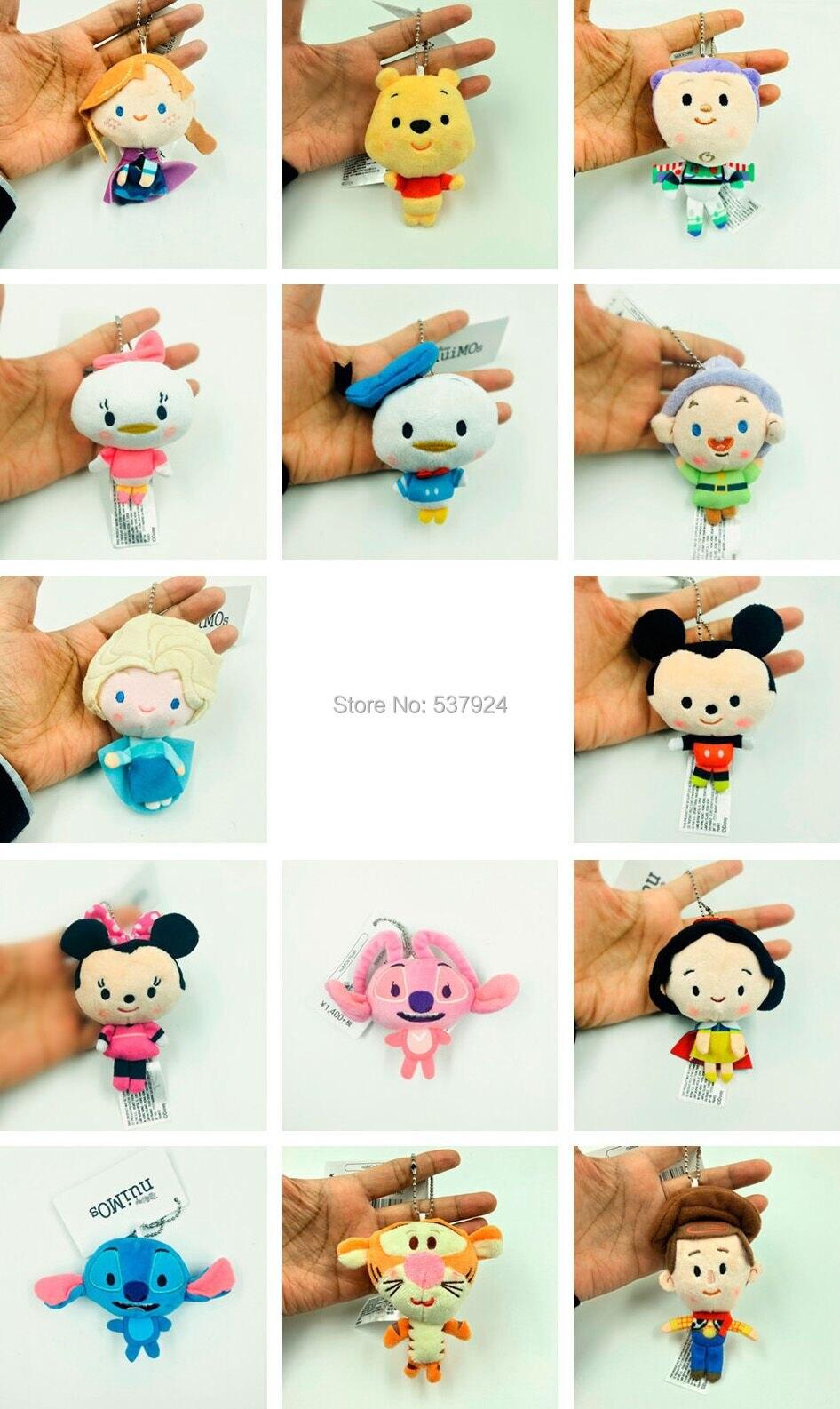 Toys & Hobbies Dolls & Stuffed Toys Plush Mickey Plush Doll Bow Animal Elephant Donald Duck Plush Bag Pendant Toys Baby Fat Round Stitch Bears Toys For Children