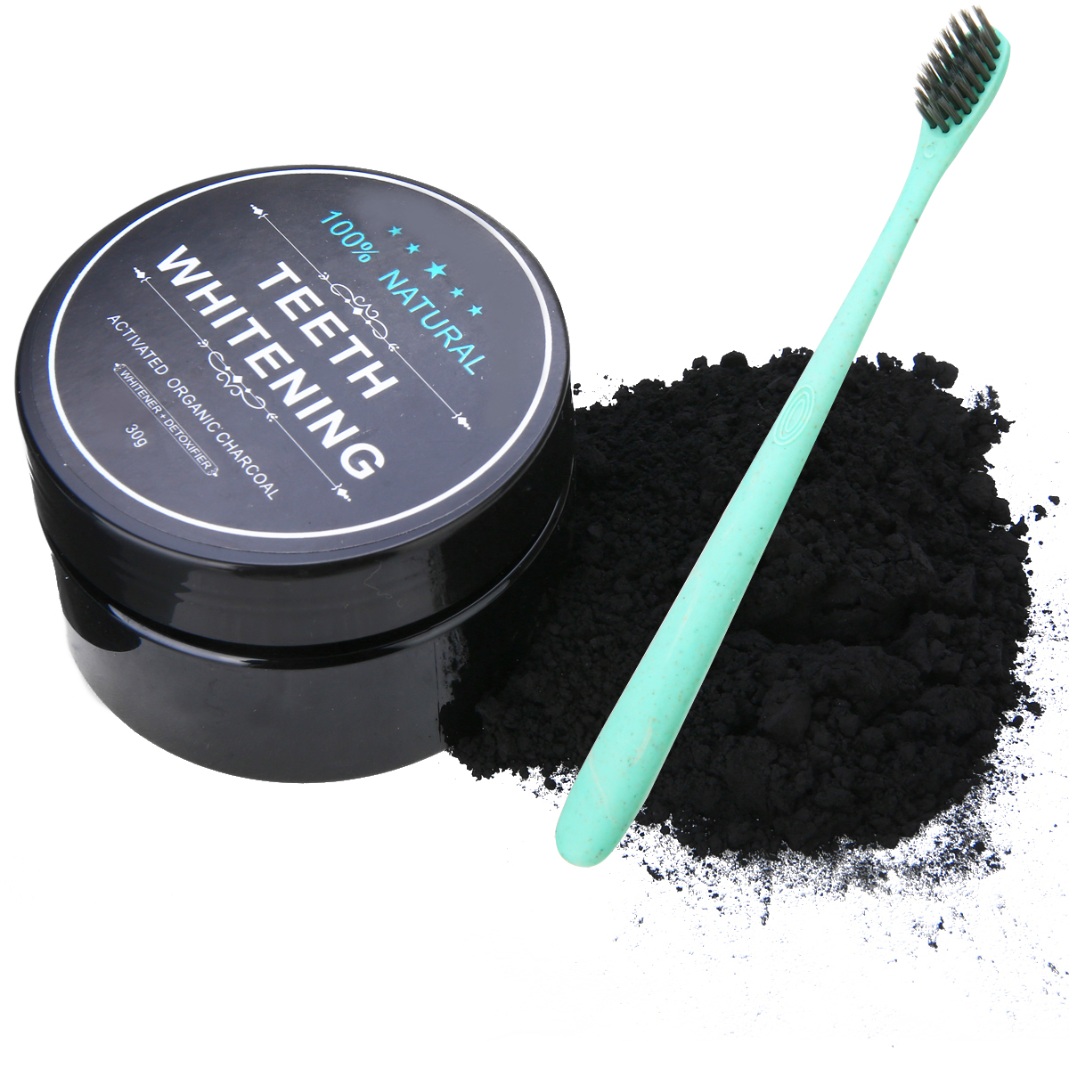 Mayitr 1 Set Carbon Coco Natural Organic Teeth Whitening Powder Coconut Charcoal Tartar Removal Coffee Stains For Dropshipping in Teeth Whitening from Beauty Health