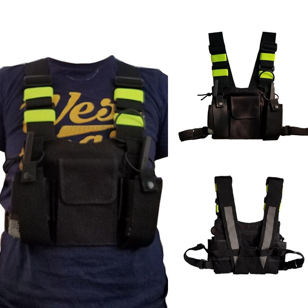 New Reflective Strip Outdoor Tactical Adjustable Vest Chest Harness with Pocket Professional Cool Tactical VestNew Reflective Strip Outdoor Tactical Adjustable Vest Chest Harness with Pocket Professional Cool Tactical Vest