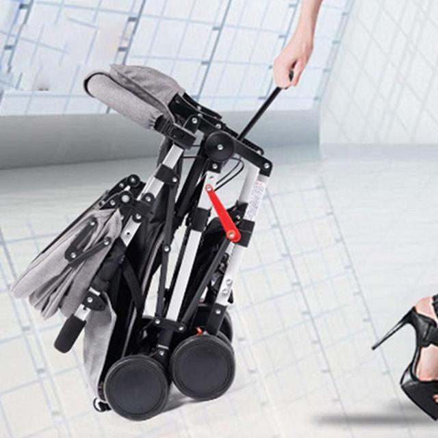Kidlove Pull Rod Type High View Baby Trolley Shock Absorber Baby Stroller 0-3 years old high landscape children umbrella cars 4