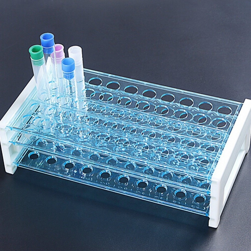Plastic Test Tube Rack for 13mm Tubes, Hole 50, Detachable