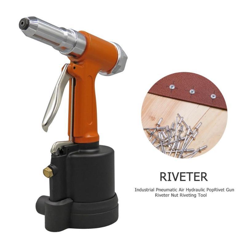 Industrial Pneumatic Air Hydraulic Pop Rivet Gun Riveter Nut Riveting Tool Home DIY Pneumati Rivet Gun Free Shipping
