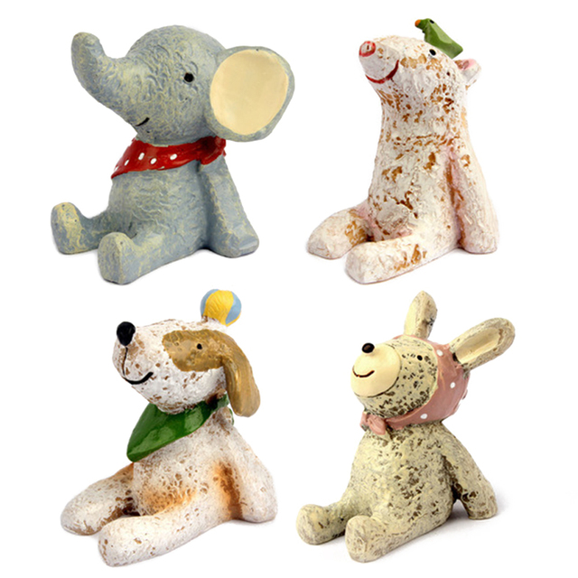 Cute Animal Cake Toppers Set of 4