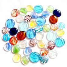 100 г разноцветные стеклянные драгоценные камни мозаичная плитка галька самородки для DIY проектов