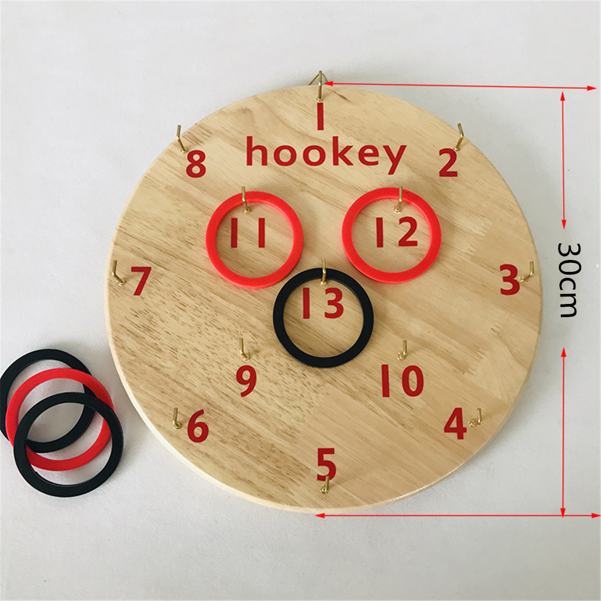 Funny Educational Games Wooden Board Hookey Ring Toss Game Disc Suspension Throwing Circle Play Toys Festival Party Supplies
