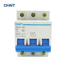 цена на CHINT DZ47-60 AC400V 3P 3A Miniature Circuit Breaker Household Air Switches