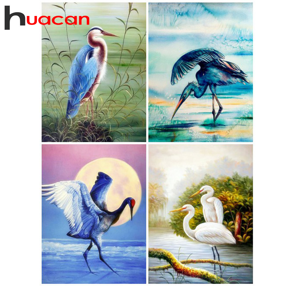 Huacan Diamond Painting Bird Picture Of Rhinestones Diamond Embroidery Animals Cross Stitch Kits Diamond Mosaic Full Drill Gift in Diamond Painting Cross Stitch from Home Garden