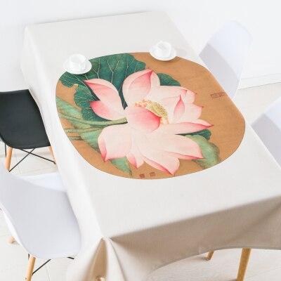 Nouveau chinois classique fleur lotus nappe linge nappes couverture serviette épaisse rectangulaire antependium salle à manger décoration