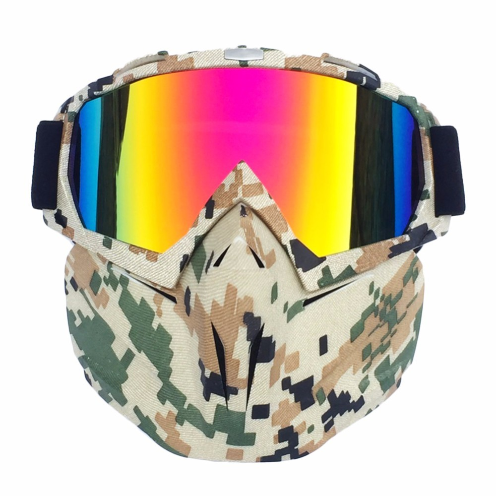 Dropshipping Men Women Ski Snowboard Goggles Mask Windproof Sunglasses Skiing Motocross Facial Mask 2019