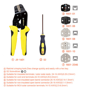 Image 4 - KKmoon מקצועי לחיצה כלי חוט לוחצי רב תכליתי הנדסת קרקוש מסוף צבת חוט חשפניות