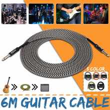 6.5mm Jack Audio Cable Professional Noise Free 3 Meters Guitar Cables For Guitar Mixer Amplifier Bass Effect Pedal 6.35 mm