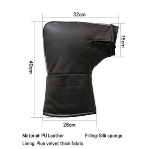 Image 5 - Pair Leather Motorbike Scooter Handlebar Gloves Waterproof Bike Handle Bar Gloves Hand Fur Muffs Glove Mitts Winter Warm