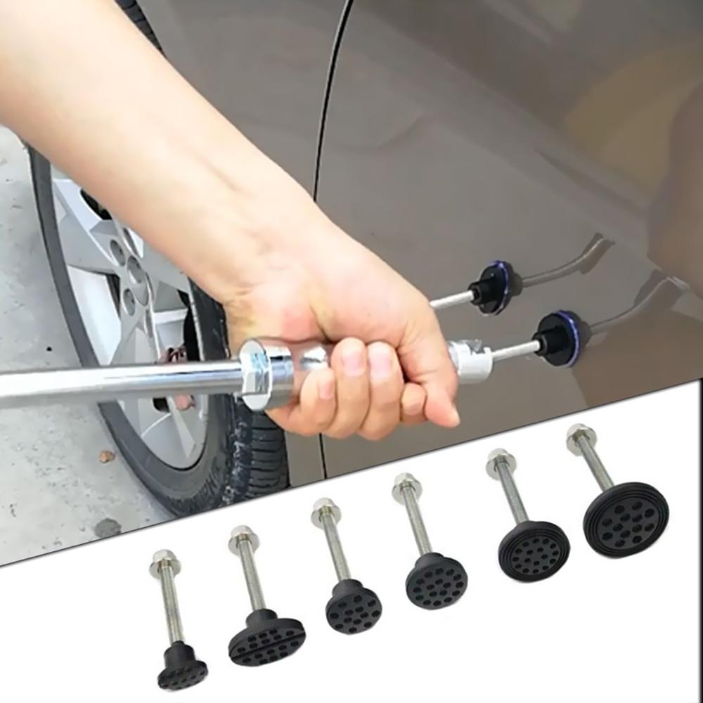 כלים יד תיקון תקן דנט כלי קיט 6 יח דבק טאבים עבור רכב Paintless פולר פלסטיק דבק טאבים כלים להסרת הגדר כלי יד סטים (1)