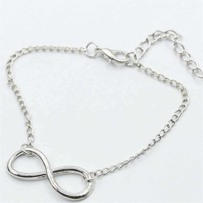 Pulsera de plata de 8 caracteres accesorios de mujer pulseras y brazaletes de la suerte Día de San Valentín famosa joyería pulsera femenina