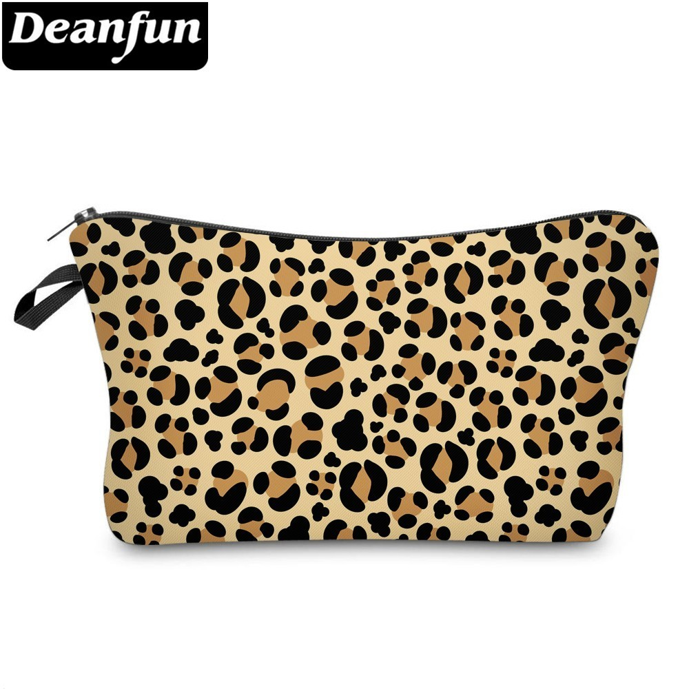 Deanfun Leopard Cosmetic Bag Waterproof Printing Vogue Neceser Custom Logo For Jewelry  51465