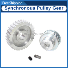 2pcs metal synchronous Pulley gear motor belt gear drive wheel gt2 9.5mm pulley CJ0618 SIEG C2