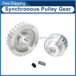 Image 1 - 2pcs metal synchronous Pulley gear motor belt gear drive wheel gt2 9.5mm pulley CJ0618 SIEG C2