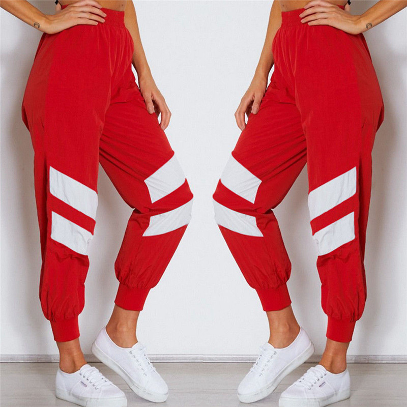 Fashion Casual Loose Geometric Women Sweatpants Jogger Dance Harem Pants Sports Baggy Slac