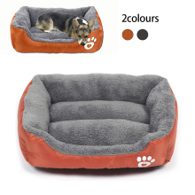 Bed for Large Dog House Paw Pet Sofa Beds Waterproof Bottom Soft Fleece Warm Winter Cat Petshop Dropshipping